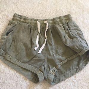 Billabong Army green lounge shorts
